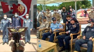 PAF Chief ACM Zaheer Ahmed Babar visits Turkish Base to review 'Anatolian Eagle 2021'
