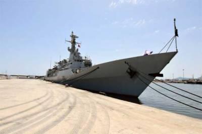 Japanese Navy ship held drills with Pakistan Navy ships in Arabian Sea