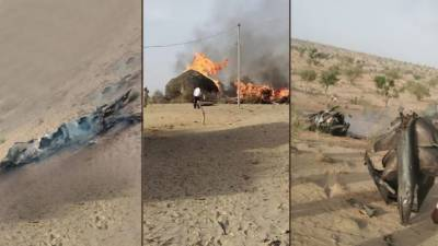 Another Indian Military fighter jet crashed in Rajasthan