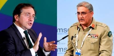 Spanish FM held important meeting with COAS General Bajwa over Afghanistan scenario