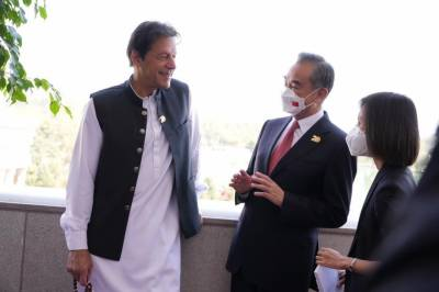 Chinese PM Wang Yi called on Pakistani PM Khan on sidelines of SCO state summit