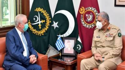 COAS General Qamar Bajwa held meeting with Greek Ambassador