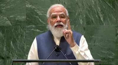 Indian PM Narendra Modi launches indirect attack on Pakistan and China in his UN Speech