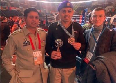 Pakistan Army Boxer wins medal in World Military Boxing Championship