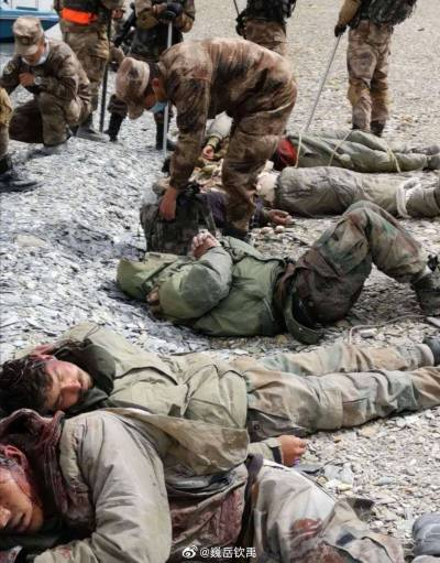 Pictures of humiliating thrashing of Indian Army troops at hands of Chinese soldiers go viral on internet