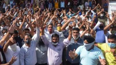 Big protests held in AJK over completion of 800 days of IOK military siege