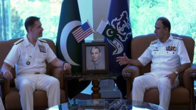 US Navy Commander held important meeting with Pakistani Navy Chief